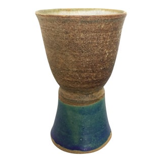 Vibrant Pottery Chalice By Nils Lou Studio