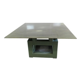 Shagreen Top Painted Wood Dining Table