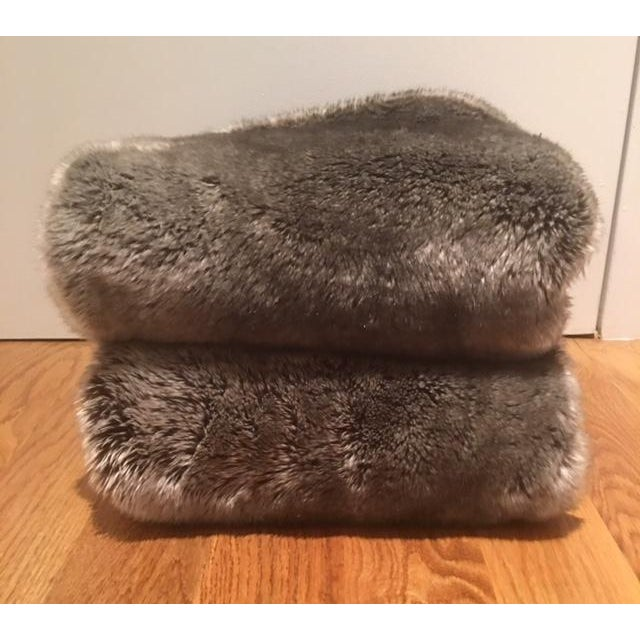 Restoration Hardware Faux Fur Pillow Covers - Pair - Image 3 of 4