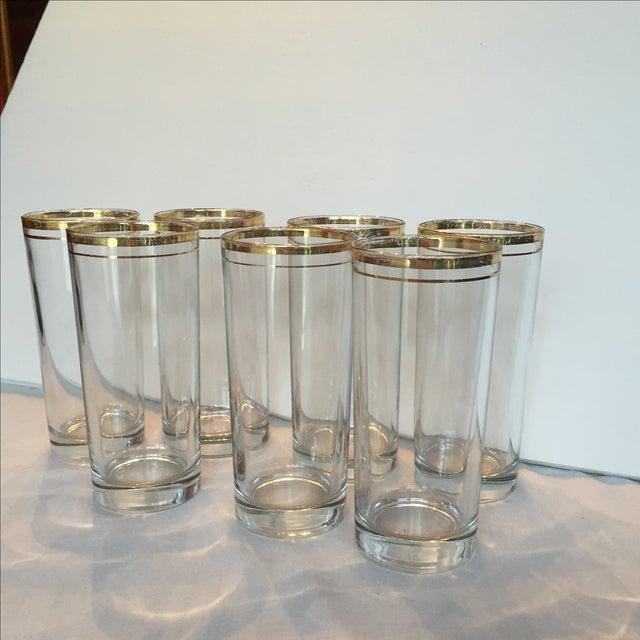 Gold Trimmed Glasses - Set of 7 - Image 9 of 10
