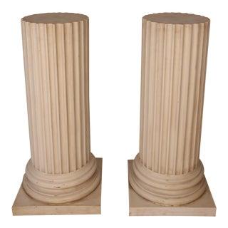 Faux Marble Neo Classical Columns - A Pair