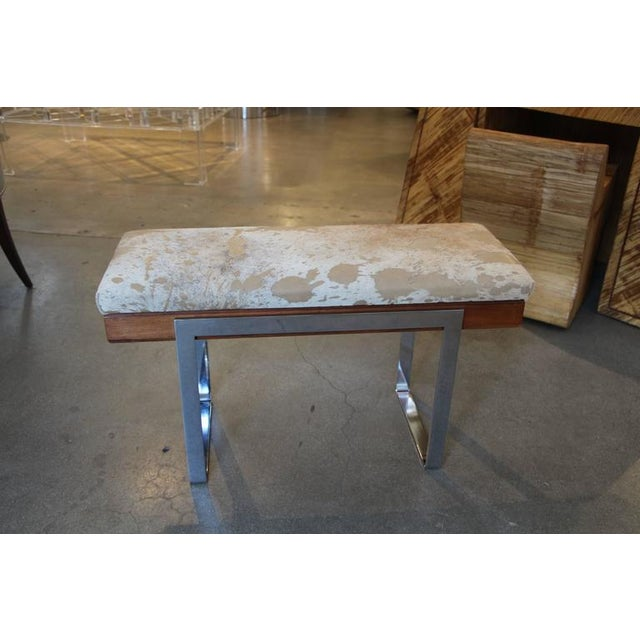 Image of Craft Associates Piano Bench Upholstered in Distressed Leather