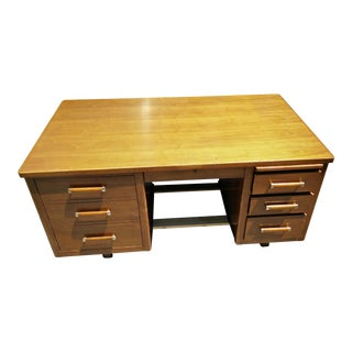 Executive Tanker Desk With Typewriter Shelf