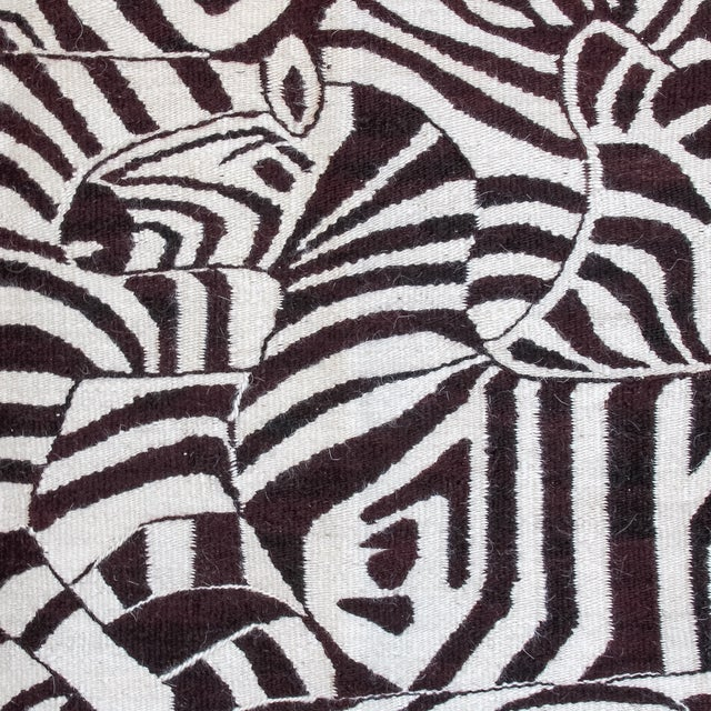 Large African Mohair Zebra Wall Hanging - Image 3 of 11