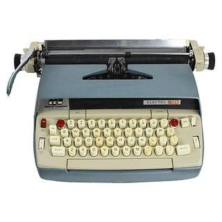 1960s Blue Smith-Corona Typewriter