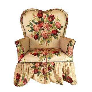Floral Outdoor Vinyl Garden Chair