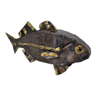 Brutalist Fish Sculpture