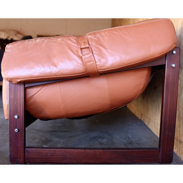 Image of Mid-Century Percival Lafer Leather & Rosewood Sofa