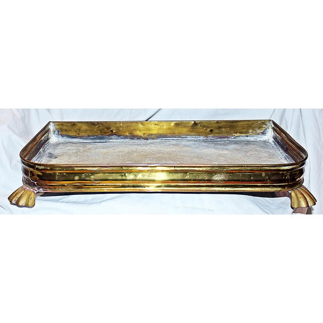 Image of Antique Brass Planter Tray