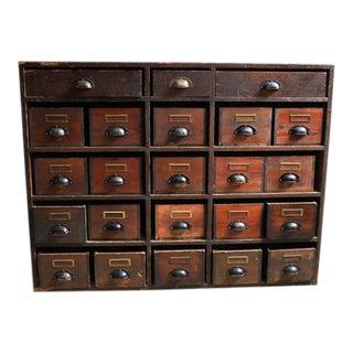Large Danish Pine Apothecary Cabinet