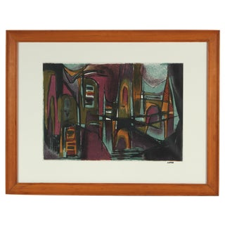 Abstract Jewel Tones Lithograph
