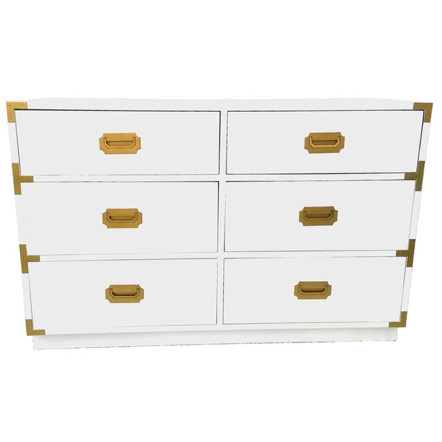 Lacquered Vintage Dixie Campaign Dresser - Image 1 of 8