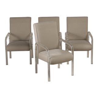 A Set of Four Charles Hollis Jones Designed Lucite Dining Chairs