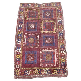 Central Asian Rug in Vivid Colors