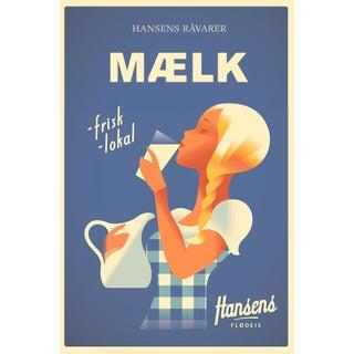 Contemporary Mads Berg Poster, Hansen's Maelk
