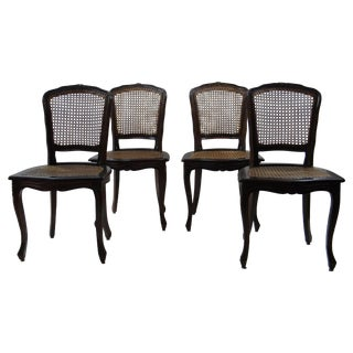 Antique French Cane Chairs - Set of 4