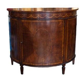 Demilune Maple Ornamental Cabinet