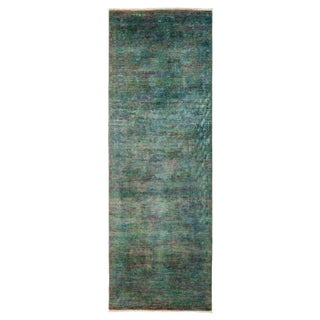 New Overdyed Hand Knotted Runner - 3' x 8'7""