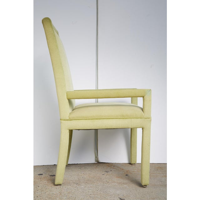 Velvet & Brass Detail Dining Chairs - Set of 8 - Image 6 of 9