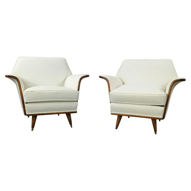 Art Deco Club Chairs - A Pair - Image 1 of 11