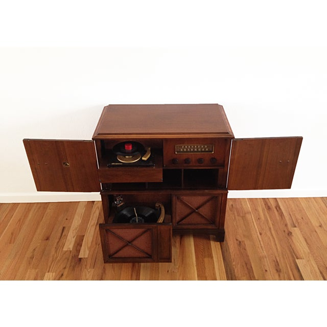 Image of Deco-Style RCA Victrola Cabinet