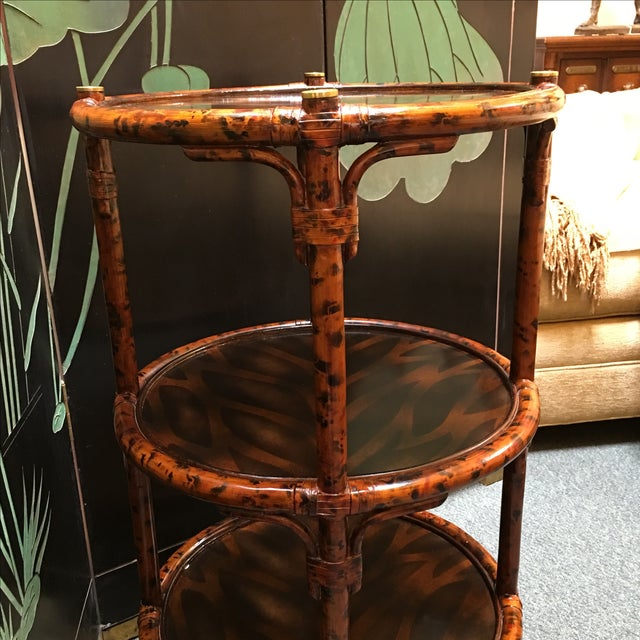 Three-Tiered Bamboo Accessory Table - Image 4 of 7