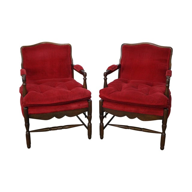 French Country Fauteuils Arm Chairs - A Pair - Image 2 of 11