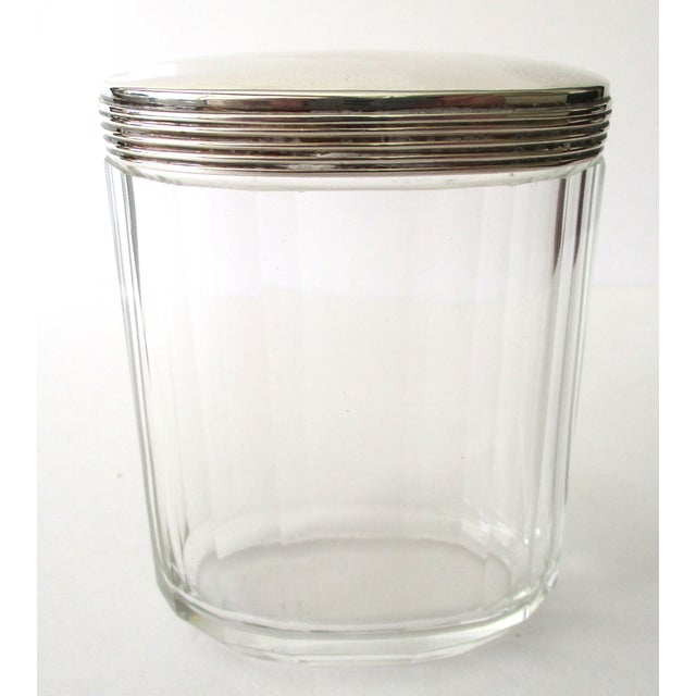 Asprey Glass Jar With Sterling Silver Top - Image 4 of 7