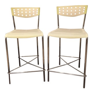 Umberto Bertoni for Beta Casa Counter Stools - Pair