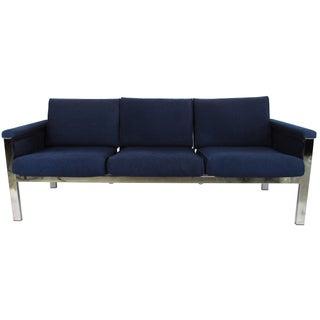 Samsonite Mid-Century Chrome & Wool Sofa