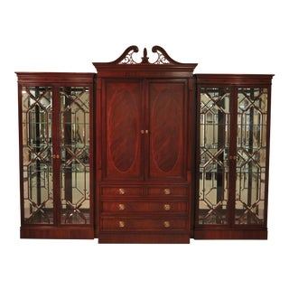 Karges Beveled Glass Mahogany Curio Bar Cabinet