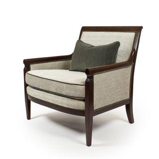 Walnut Baker Gray Armchair
