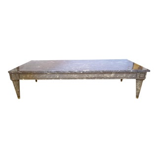 Faux Marble-Top Coffee Table