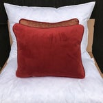 Image of Transitional Rust & Metallic Gold Fortuny Pillows - A Pair