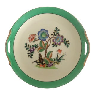 Vintage Noritake Art Deco Hand Painted Multicolor Floral Round Ceramic Plate
