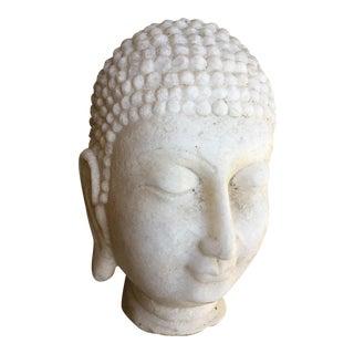 Hand Chiseled Marble Head of Buddha Statue
