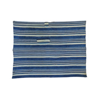 "Indigo Blue Striped Throw - 3'6"" X 4'6"""