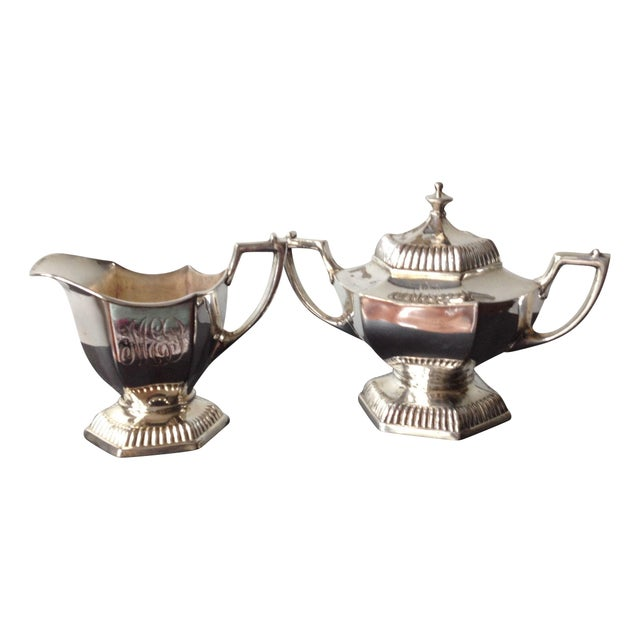 Silver Cream & Sugar Servers - Image 1 of 8
