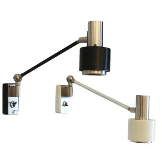Adjustable Pair of Stilnovo Sconces