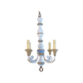 Italian Painted Wood Chandelier