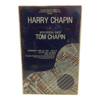 1981 Harry Chapin Purdue University Concert Poster