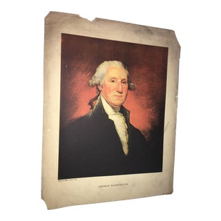 1930s Gilbert Stuart George Washington Lithograph