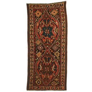 Antique Hand Knotted Wool Persian Kilim Rug - 5′6″ × 12′4″