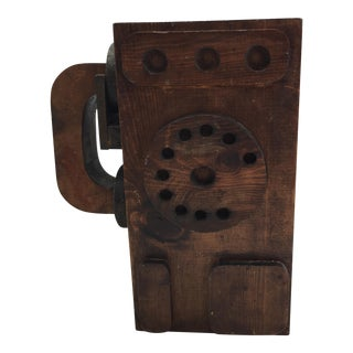 Folk Art Wooden Pay Phone