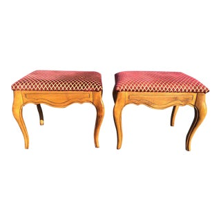 Ethan Allen Style Stools - A Pair
