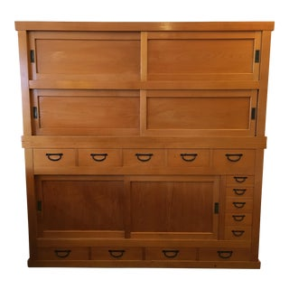 Antique Mizuya Kitchen Tansu