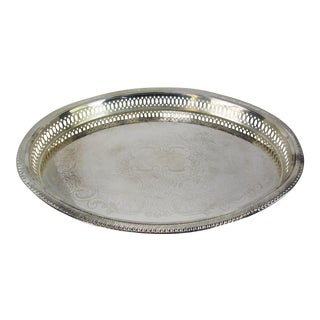 Vintage Silve-Plate Oval Tray