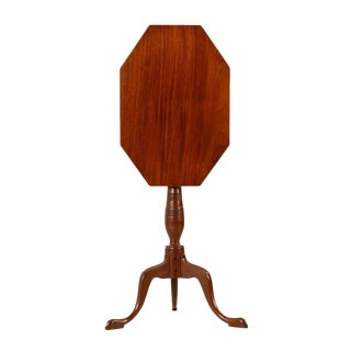 1805-15 American Federal Mahogany Tilting Candle Stand