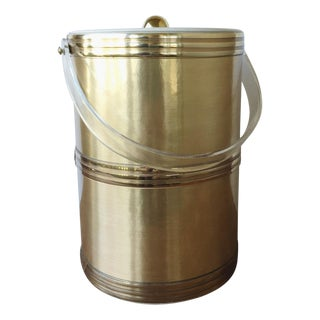 Georges Briard Gold & Lucite Ice Bucket