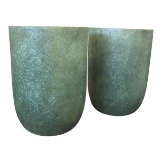Mid-Century Fiberglass Planters - Pair